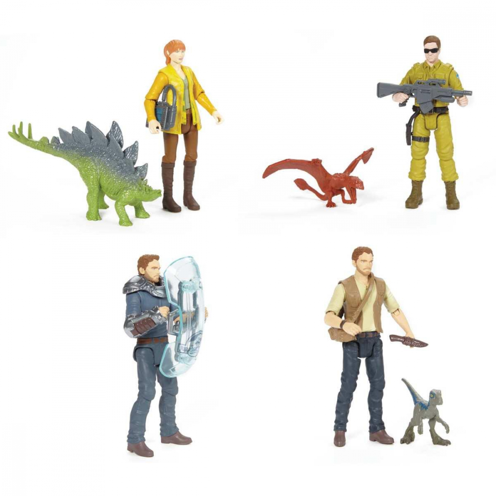 BONECO E PERSONAGEM JURASSIC WORLD FIG BASICA