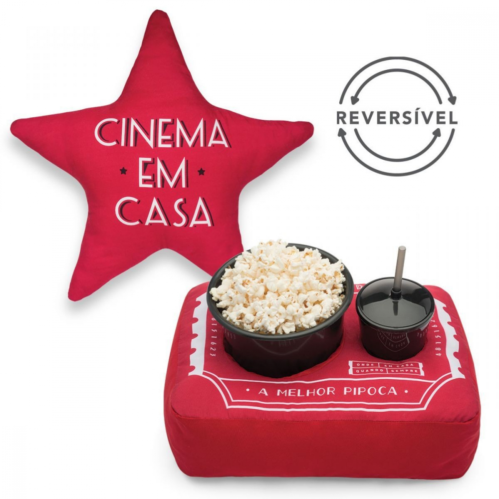 KIT PIPOCA REVERSIVEL TICKET CINEMA