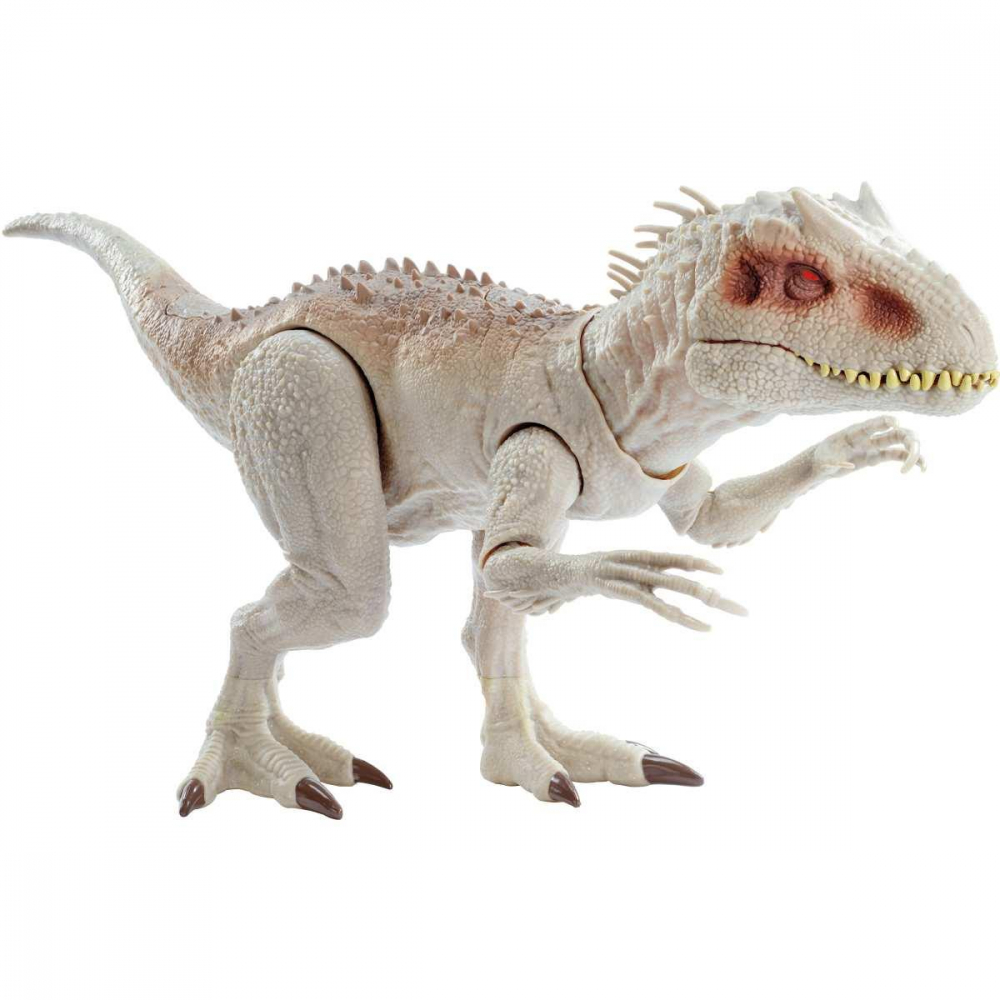 BONECO E PERSONAGEM JURASSIC WORLD INDOMINUS REX